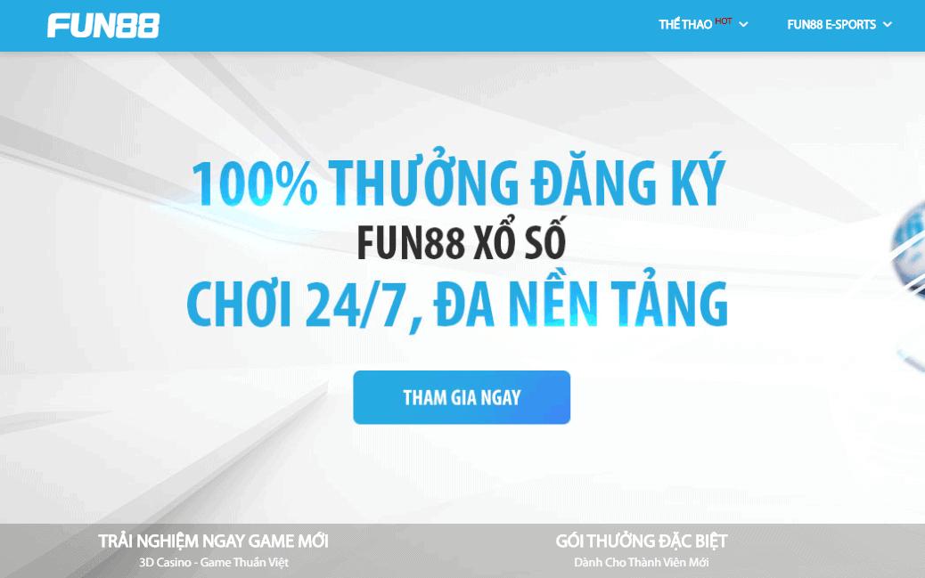 Fun88 - Link nhà cái fun88 đăng ký 2021