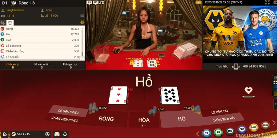 Meo dat cuoc de thang lon khi choi Rong Ho online